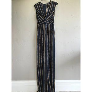 Windsor Blue and Yellow Striped Jumpsuit
